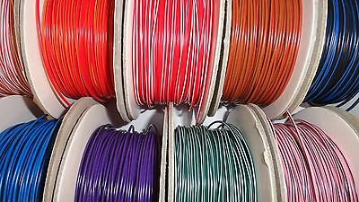 72 COLOURS IN STOCK - 5m of 1mm² 12v 16.5A Automotive car marine wire cable