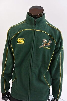 UK/ CANTERBURY SA RUGBY SPRINGBOKS SOUTH AFRICA Training Jacket Top Warm SIZE M