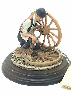 The Wheelwright Figurine  Keith Sherwin 1984 Richard Cooper & Co Country Artists