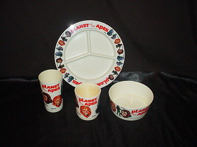 Planet of the Apes Apjac Plate, Cup, Bowl, Tumbler (Cleaned and Restored)