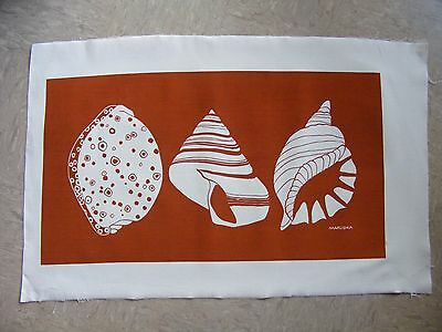Marushka Unframed Screen Print, Shells, Beach, Orange