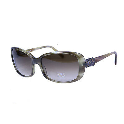 df7908efd95af Authentic Vera Wang Aidin 57-16-135 Olive Tortoise Sunglasses Category 2