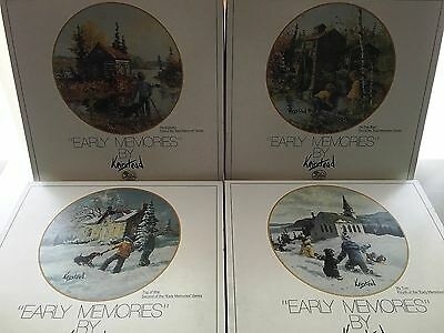 Hutschenreuther Keirstead Collector Plates set of 4 Limited and Numbered Germany