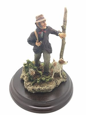 THE POACHER FIGURINE by KEITH SHERWIN 1987 RICHARD COOPER & CO COUNTRY ARTISTS