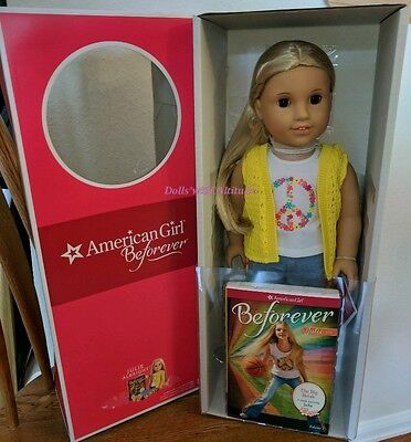 NEW IN BOX American Girl Beforever Julie Doll and Paperback book