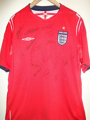 England signed football shirt by superstar squad inc COA
