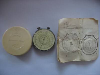 Vintage Soviet Ussr Russian Logarithmic Circular Round Slide Rule Two Side 1961