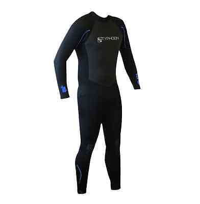 """XXL Typhoon Pulse mens full wetsuit Max chest 48"""" swimming Kayaking Surfing 3/2m"""
