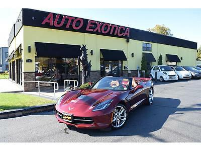 2016 Chevrolet Corvette  2016 Chevrolet Corvette Stingray Z51 Automatic 2-Door Convertible RED FINANCE PR