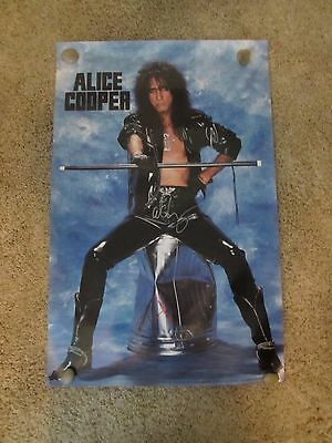 Alice Cooper Autographed Poster