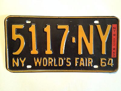 Original New York State 1964-65 World's Fair License Plate (5117-NY)