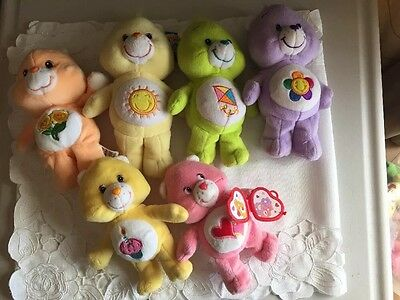Care Bears FRIEND Champ Wish Cheer BEAR Plush Toy Lot Of 6