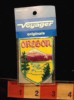 Snow Mountain Scenery Oregon Patch ~ Vintage Voyager Brand  60C3