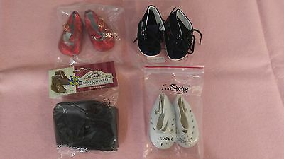 """NEW-DOLL SHOES - 4 Pairs fit 18"""" Doll such as American Girl Dolls or OTHERS"""