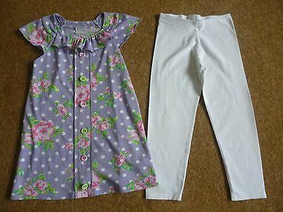 Girls NEXT Outfit Top and Leggings Age 4-5 Years