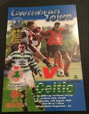 Cwmbran Town v Celtic UEFA Cup 1st Round 12/08/99