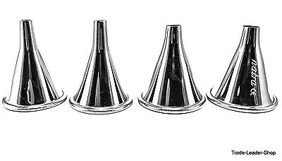 4 set Boucheron ear trumpet otology specula otoscope speculum ENT adults NATRA
