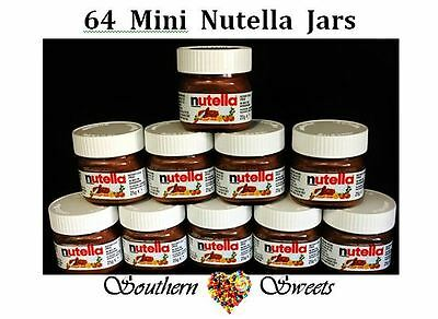 Mini Nutella Jars 64Ct Glass Jar 25G Made In Italy - Great Xmas Stocking Fillers