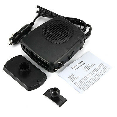 2in 1 12V 150W Car Heater Portable Heating Fan Swing-out Handle Enthusiasts