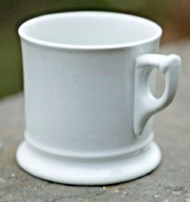 Beautiful J & G Meakin Cable & Ring English White Ironstone Shaving Mug c 1890's