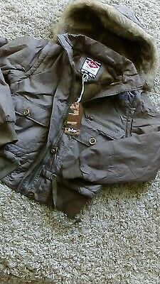Lee Cooper Ladies /girls Padded Hooded Coat Size 12 Brown New Quality Jacket