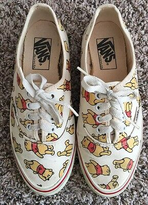 Vintage Vans Shoes Disney Winnie Pooh Size 7.5 Made In USA