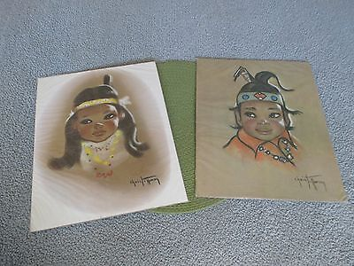 2 Reproductions by SAGA Christoffersen's Finest Indian Boy&Girl 1970s