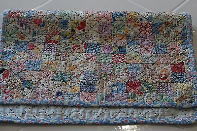Beautiful Postage Stamp 20's/30's Antique Vintage Doll Quilt