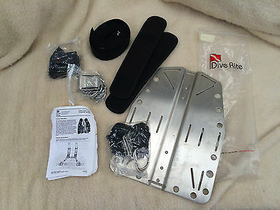Dive Rite Scuba Transplate Diving Harness With (!!!) Steel Plate (New)