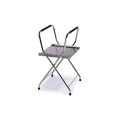 """Lakeside 18-1/2""""wx18-1/4""""dx32-1/4""""h Folding Chrome Plated Tray Stand - 677"""