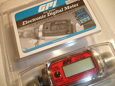 New and Sealed! Latest model! GPI Electronic Digital Fuel Meter model 01A31GM