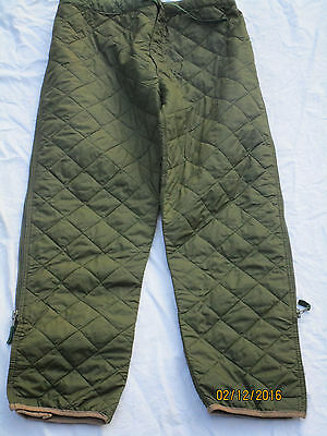 Liner Extreme Cold Weather Trousers,Thermo Quilted Trousers,olive,Size 90/106