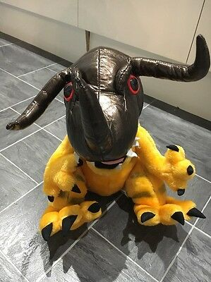 Large 12 Inch Rare Vintage Greymon Digimon Monsters Play By Play Plush