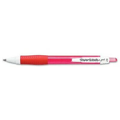 Paper Mate Retractable Gel Pen, Medium Point, Red, 12 Count