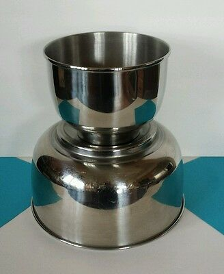 Two (2) Sunbeam Mixmaster Stainless Steel Mixing Bowls * Large / Small