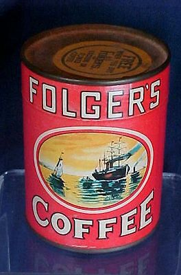 Vintage Folgers Coffee Puzzle Tin Unopened All Original