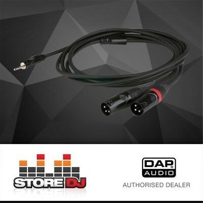 DAP Audio FLX-466 Stereo 3.5mm TRS to Dual Mono 3-Pin XLR(M) Cable (6m)