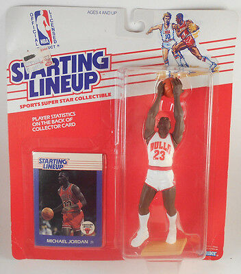 1988 Starting Lineup Michael Jordan NBA Sports Action Figure Toy with Card