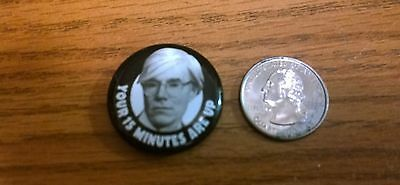 ANDY WARHOL Button/Magnet - free shipping