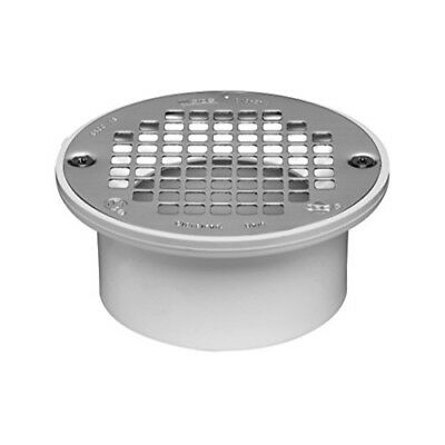 Oatey 43583 PVC Drain with 5-Inch Stainless Steel Strainer, 3-Inch or 4-Inch