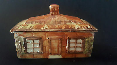 "Price Kensington ""Ye Old Cottage"" butter canister, made in England"
