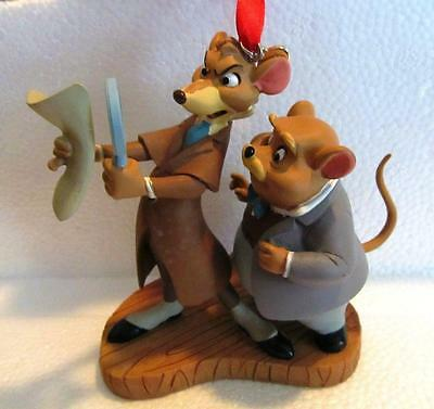 Disney Store Sketchbook Ornament 2016 Great Mouse Detective Basil & Dawson NEW