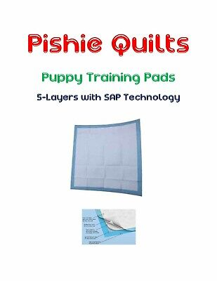 300-17x24 Pishie Quilts Puppy Piddle Training Pads Heavy Weight Quilted SAMPLES!