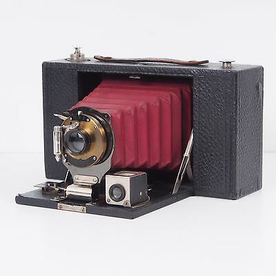 -Antique No 3a Folding Brownie Kodak Camera Red Bellows