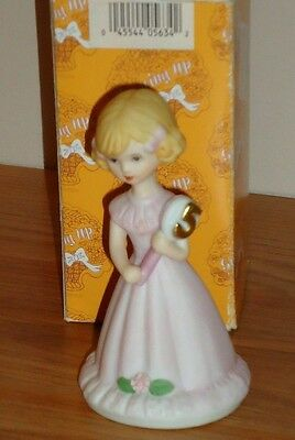 "Enesco 5th Birthday Girls GROWING UP 4.25"" porcelain figurine w/Box Vintage 1981"