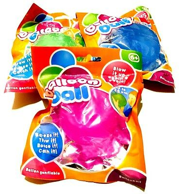 Large 25 Cm Inflatable Jelly Balloon Ball Throw Catch Squeeze Bounce Reusable