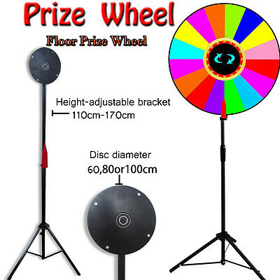 "New 24"" Editable Dry Erase Color Prize Wheel Fortune Spinning Game Floor Stand"