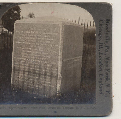 Spot where Andre was executed Tappan NY Keystone Stereoview 1925