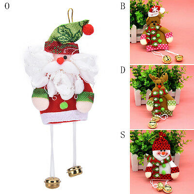Christmas Ornament Tree Hanging Festival Party Xmas Double Bells Decor SP