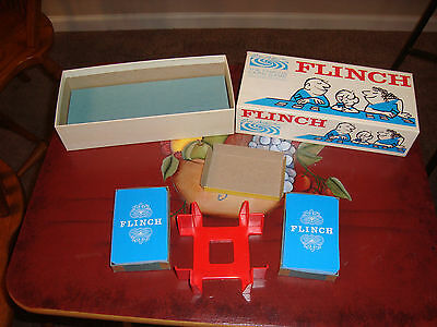 Vtg 1963 Parker Brothers Famous Card Game FLINCH In Box & Instructions EXCELLENT